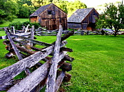Pa Barns Prints - Fences at Burnside Plantation Bethlehem PA Print by Jacqueline M Lewis