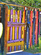 Crooked Fence Posters - Fences of Tucson Poster by Joanne Beebe