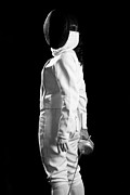 Athlete Photo Originals - Fencing Player by Daniel Barbalata