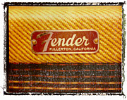 Guy Gifts For Him Framed Prints - Fender Amp Guitar Art Print Tweed Framed Print by Artful Musician NY