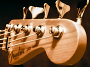 Bass Bridge Prints - Fender Jazz Print by Robert L Jackson
