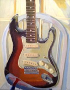 Fender Painting Originals - Fender One by Martin Deem