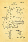 Fender Jazzmaster Guitar Patent Art 1960  Print by Ian Monk
