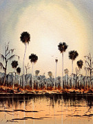 Kayaking Art Paintings - Fenholloway River Florida by Bill Holkham