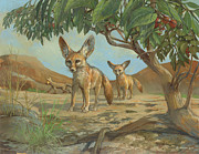 ACE Coinage painting by Michael Rothman - Fennec Fox