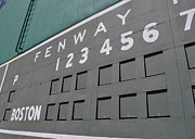 Fenway Park Prints - FenWall Print by Nate HubPhotos