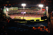 Fenway Park Framed Prints - Fenway at Night Framed Print by James Kirkikis