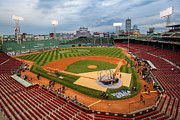 Fenway Park Prints - Fenway before the storm Print by Paul Treseler