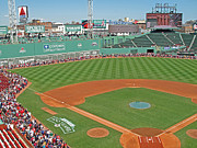 Red Sox Metal Prints - Fenway One Hundred Years Metal Print by Barbara McDevitt