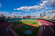 Boston Red Sox Posters - Fenway Park and Boston Skyline Poster by Tom Gort