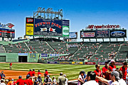 Red Sox Metal Prints - Fenway Park before the game Metal Print by Dennis Coates