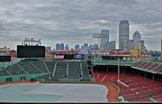 Red Sox Metal Prints - Fenway Park Boston Metal Print by Amazing Jules