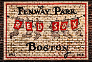 Brick Wall Posters - Fenway Park Boston Redsox Sign Poster by Bill Cannon
