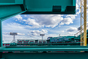 Carlton Fisk Prints - Fenway Park from the Green Monster Print by Tom Gort