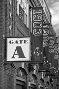 Jerry Fornarotto - Fenway Park Gate A BW