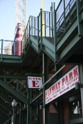 Red Sox Tickets Posters - Fenway Park Gate E Poster by David Leiman