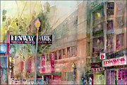 Fenway Park Painting Metal Prints - FENWAY PARK Home of the World Champs Red Sox Metal Print by Dorrie Rifkin