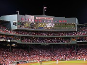 Red Photos Posters - Fenway Park Poster by Juergen Roth