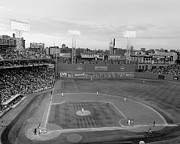 Red Sox Metal Prints - Fenway Park Photo - Black and White Metal Print by Horsch Gallery