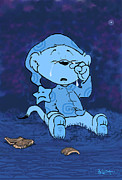 Cartoonist Prints - Ferald Crying Print by Keith Williams