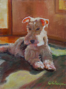 Fox Terrier Posters - Fergie Poster by Keith Burgess