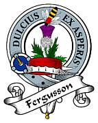Genealogy Prints - Fergusson Clan Badge Print by Heraldry