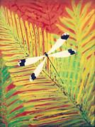 Fern Dragon Print by Anna Skaradzinska