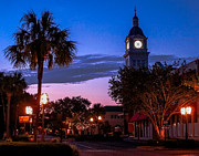 Fernandina Beach Framed Prints - Fernandina Beach Downtown Framed Print by Scott Moore