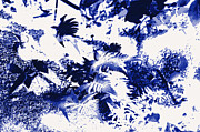 Fern Originals - Ferns in the forest in a blue color by Tommy Hammarsten