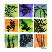 Tropical Plant Paintings - Ferns of Hawaii by Diane Thornton