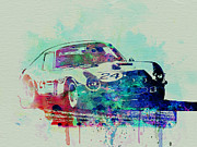 Vintage Car Drawings Prints - Ferrari 250 GTB Racing Print by Irina  March