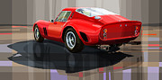 Digital Drawing Framed Prints - Ferrari 250 GTO Framed Print by Yuriy Shevchuk