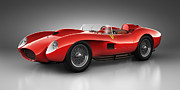Realistic Digital Art Prints - Ferrari 250 Testa Rossa - Spirit Print by Marc Orphanos