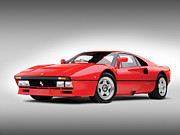Wheels Framed Prints - Ferrari 288 GTO Framed Print by Sanely Great