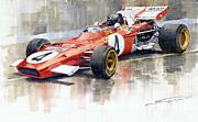 Ferrari 312 B2 1971 Monaco Gp F1 Jacky Ickx Print by Yuriy  Shevchuk