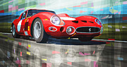 Sport Mixed Media Framed Prints - Ferrari 330 GTO 1962 Framed Print by Yuriy Shevchuk