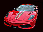 Sheats Framed Prints - Ferrari 430 Scuderia Framed Print by Samuel Sheats
