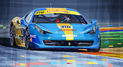 Car Mixed Media - Ferrari 458 Challenge Team Ukraine 2012 by Yuriy  Shevchuk