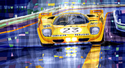 Racing Car Framed Prints - Ferrari 512 S SPA 1970 Derek Bell  Framed Print by Yuriy  Shevchuk