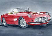 Speed Drawings - Ferrari 62   250 GT by Eva Ason