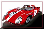 Vintage Sport Cars Photo Framed Prints - Ferrari 97 Framed Print by Tom Griffithe