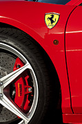 Autos Posters - Ferrari Emblem 3 Poster by Jill Reger