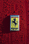 Autos Posters - Ferrari Emblem 5 Poster by Jill Reger