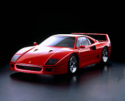 Car Posters Posters - Ferrari F40 Poster by Sanely Great