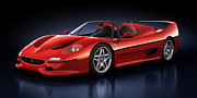 Automobiles Digital Art Framed Prints - Ferrari F50 - Phantasm Framed Print by Marc Orphanos