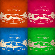 Ferrari Gto Classic Car Prints - Ferrari Front Pop Art 4 Print by Irina  March