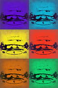 Classic Cars Digital Art - Ferrari Front Pop Art 5 by Irina  March