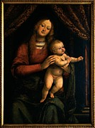 Christ Child Photo Prints - Ferrari Gaudenzio, Madonna And Child Print by Everett