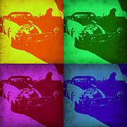 Ferrari Gto Classic Car Posters - Ferrari GTO Pop Art 1 Poster by Irina  March