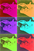 Italian American Mixed Media Prints - Ferrari GTO Pop Art 3 Print by Irina  March